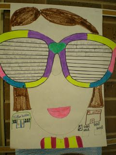 4bf234867840 Summer Writing assignment with sunglasses as the writing paper ...
