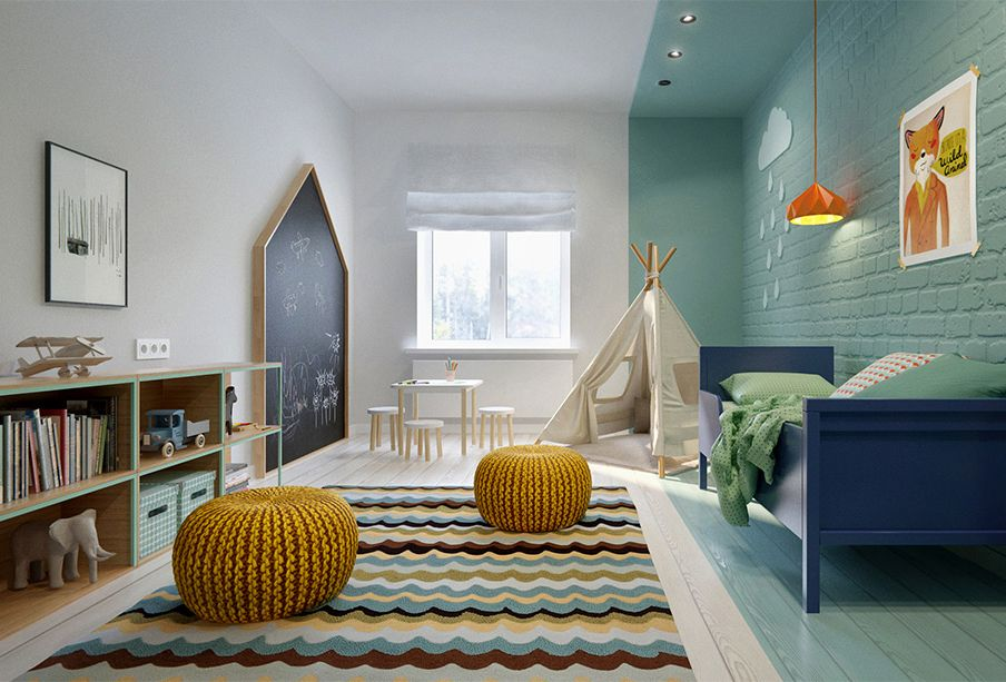Kleurvlakken in de kinderkamer decor ideas play