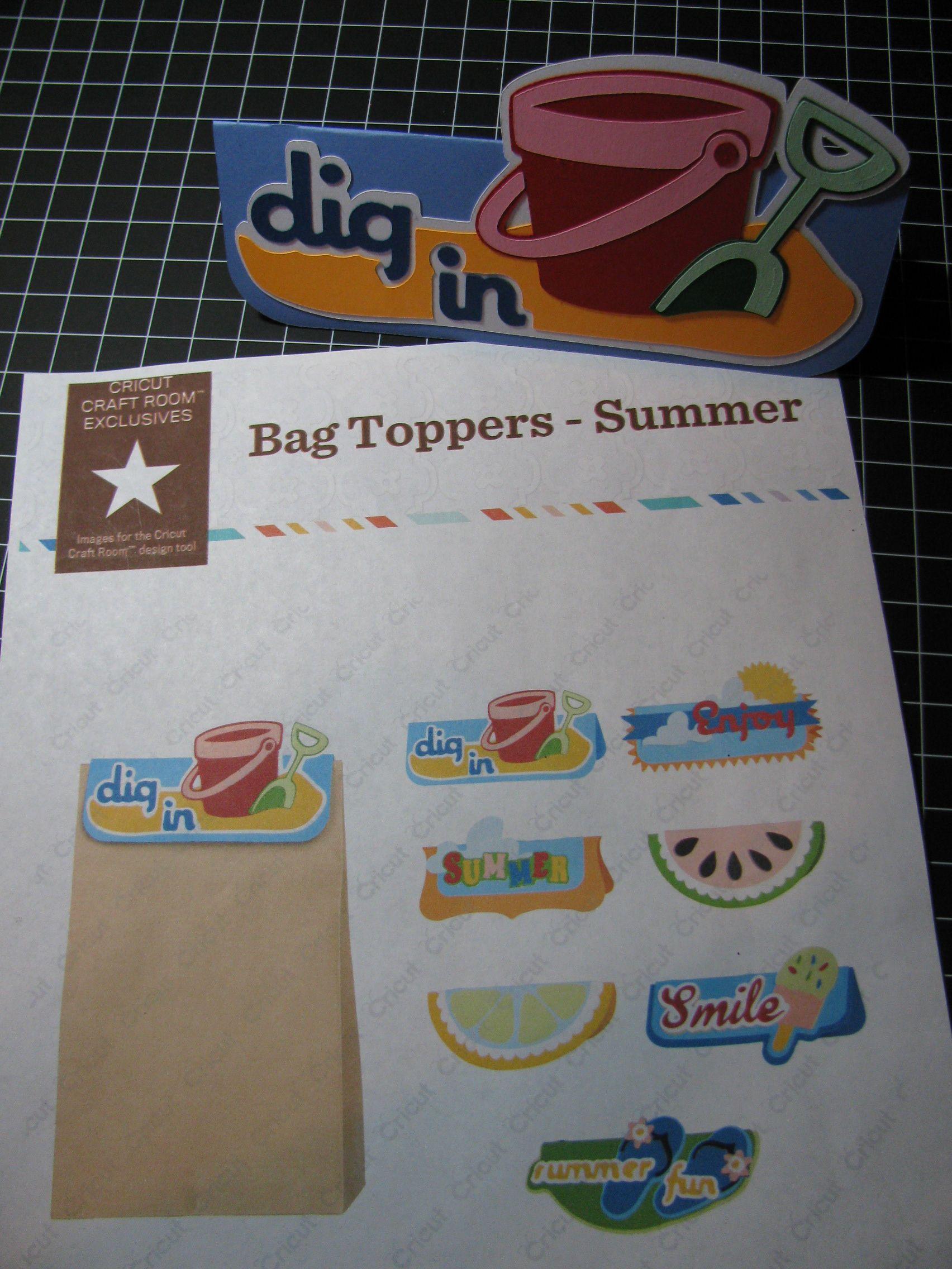 Cricut Craft Room Bag Topper Digital cartridge So much fun to