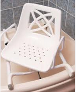 Swivel Bath Chair  €135.00  The bath swivel seat has a sturdy steel base frame which fits over the bath and has an easy to clean plastic sea...