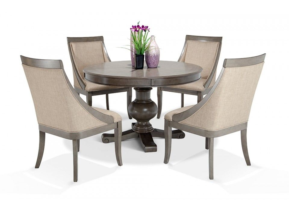 Gatsby Round 5 Piece Dining Set With Swoop Chairs | Bobu0027s Discount Furniture