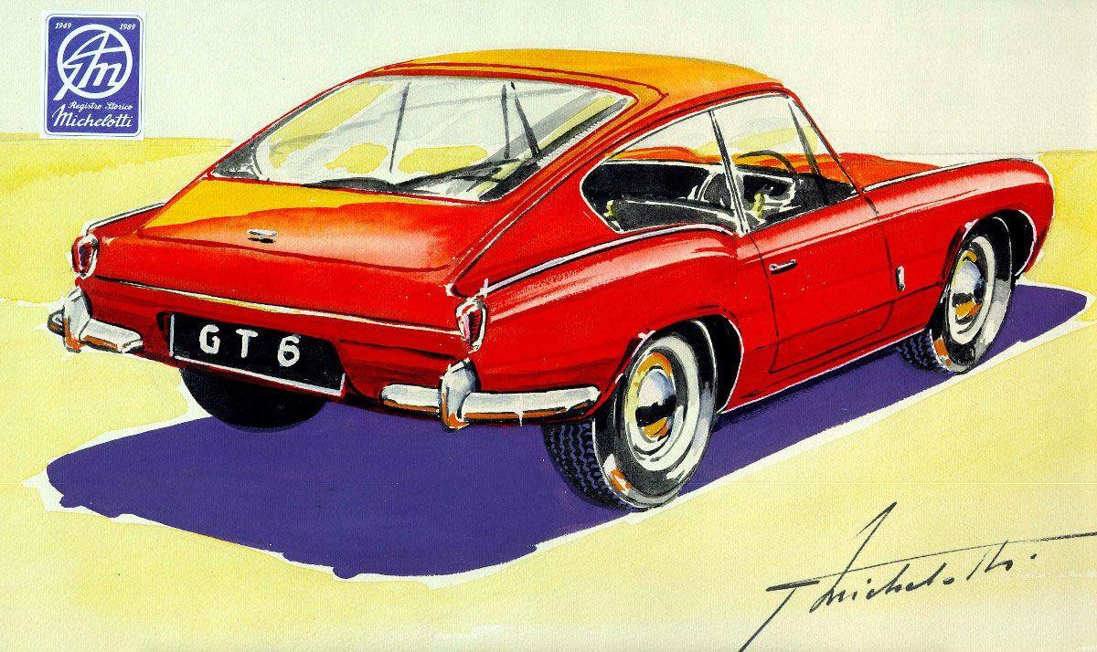 Triumph Stag Classic British Car Sportscar Art Deco Style Birthday Card