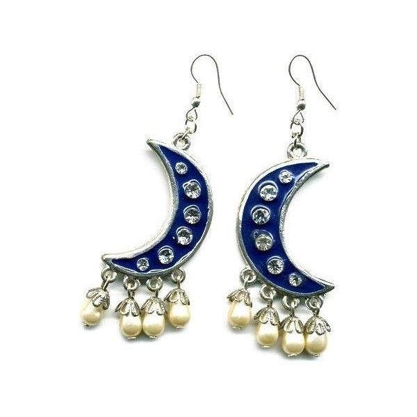 Toujours Toi Aladdin Moon Earrings ($59) ❤ liked on Polyvore featuring jewelry, earrings, accessories, fillers, jewels, necklaces & pendants, diamond pendant jewelry, womens jewellery, diamond earrings and pandora jewelry