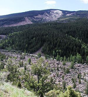 Gros Ventre Landslide | Gros Ventre landslide - Wikipedia, the free encyclopedia