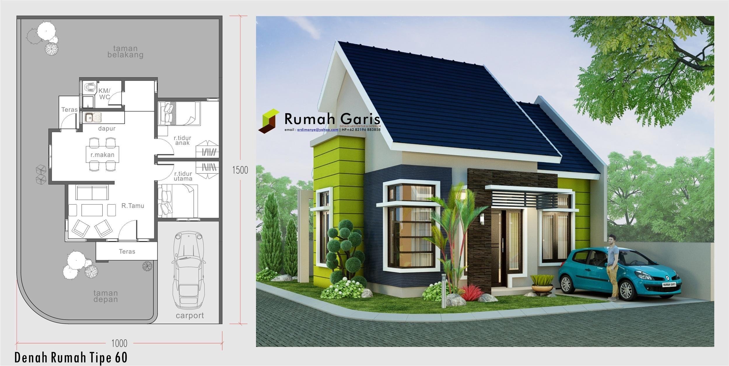 Desain Rumah Luas Tanah 60