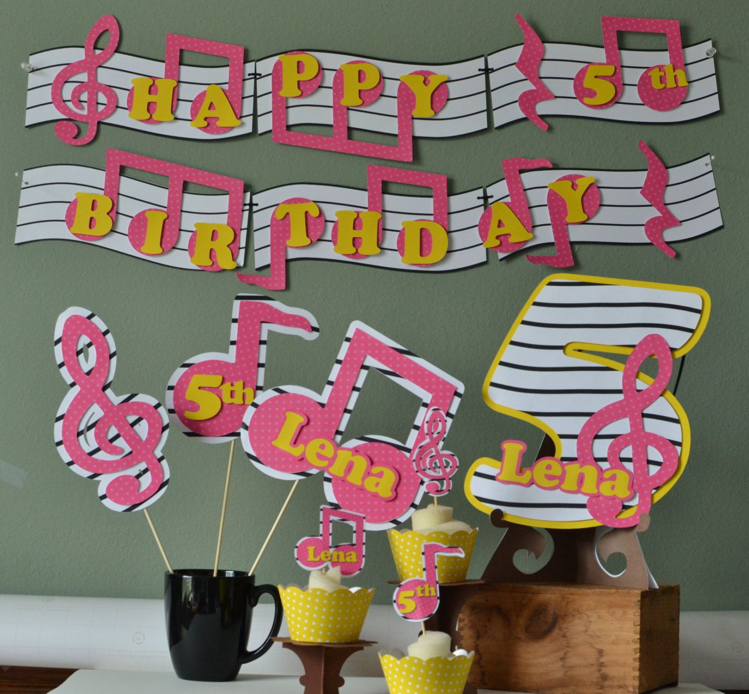 Superb Music Themed Party Decorations Ideas Part - 4: Music Birthday Party Door Sign Party Decoration By Bcpaperdesigns, $17.00