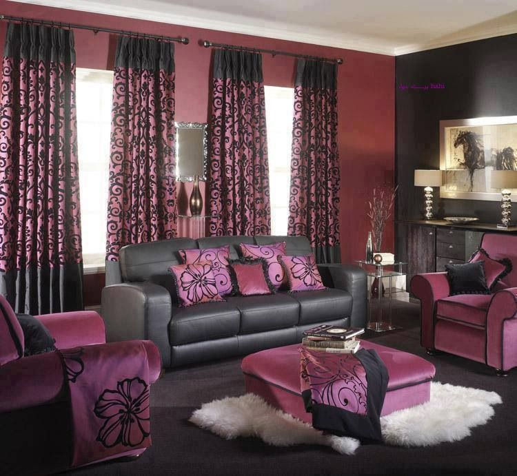 Brown Purple Living Room Home Houses Decoration Pinterest Living Rooms Room And Living