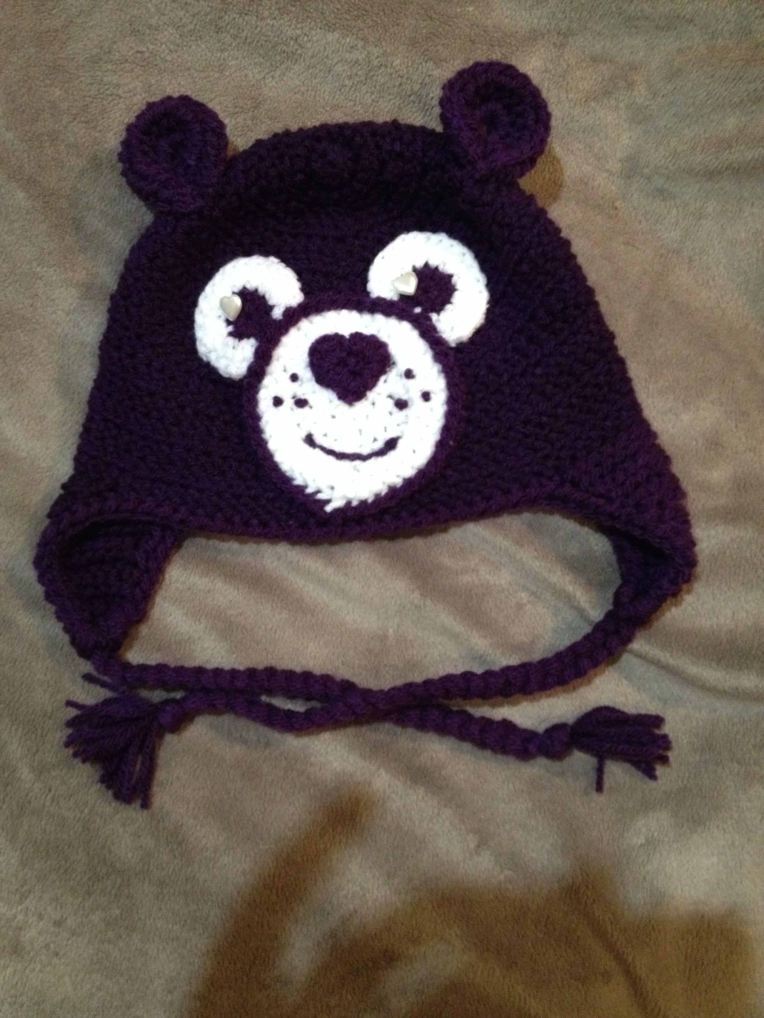 Deep purple care bear hat | Crochet & knitted items | Pinterest
