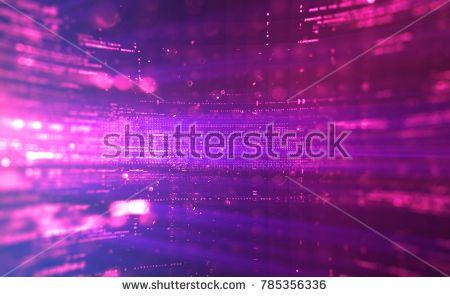 Abstract Tech Background Floating Numbers Hud Stoc