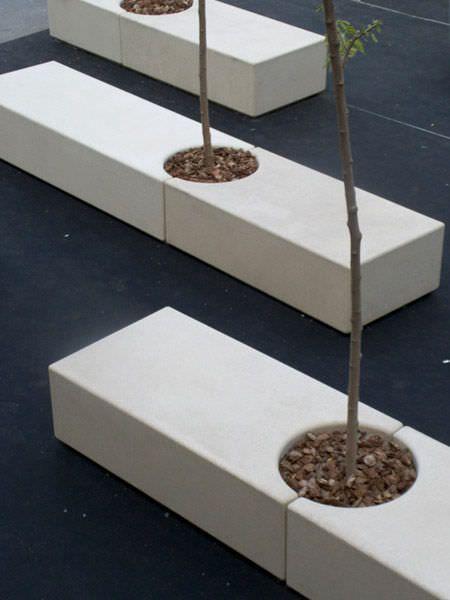 banc public contemporain en pierre reconstitu e usage professionnel godot by d ez d ez. Black Bedroom Furniture Sets. Home Design Ideas
