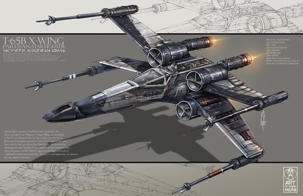 Artstation Cavern Angels Unit T 65b X Wing Shane Molina Star Wars Ships Star Wars Pictures Star Wars Images