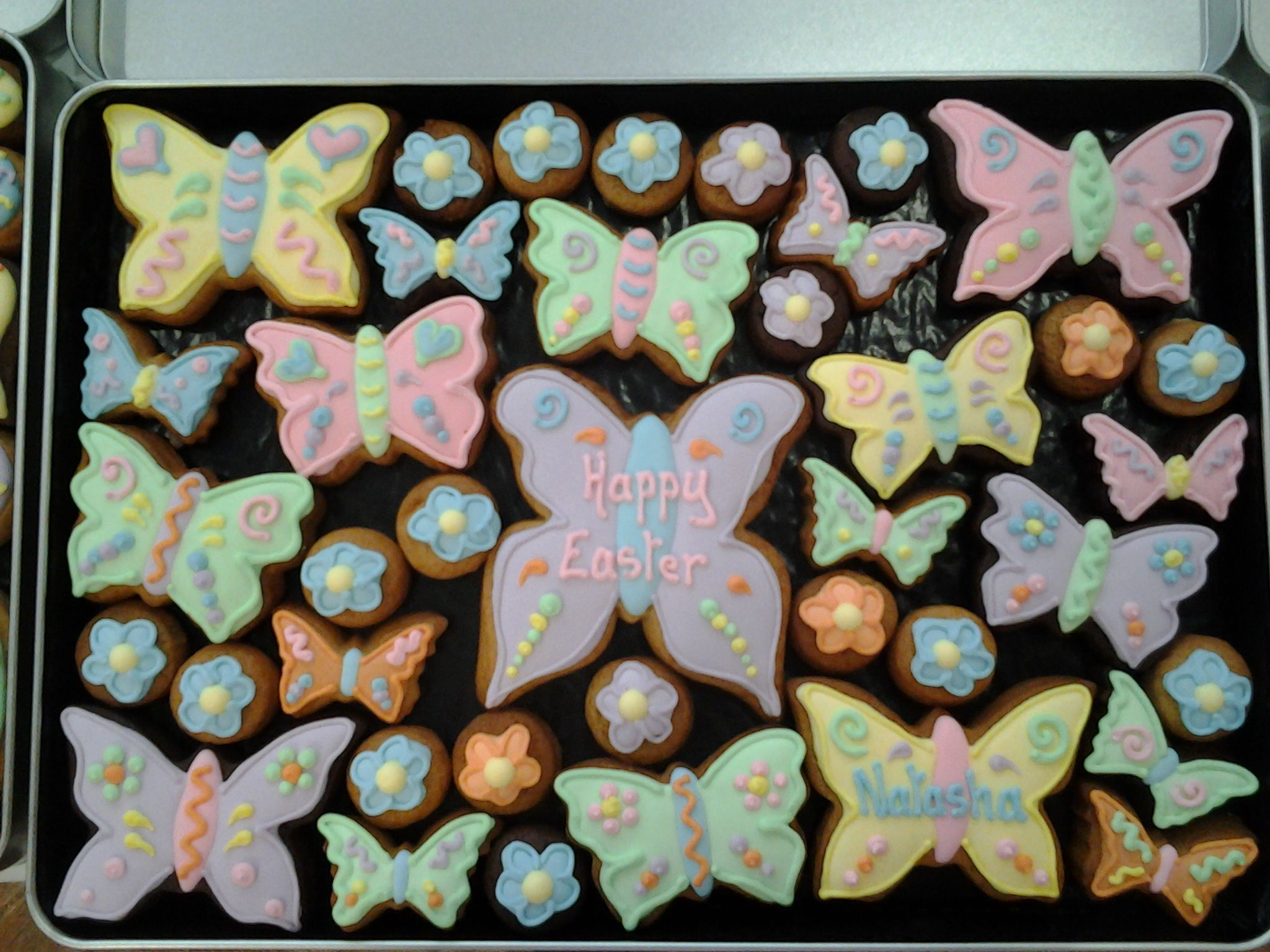 Beautiful butterflies for natasha at easter easter cookies beautiful butterflies for natasha at easter negle Images