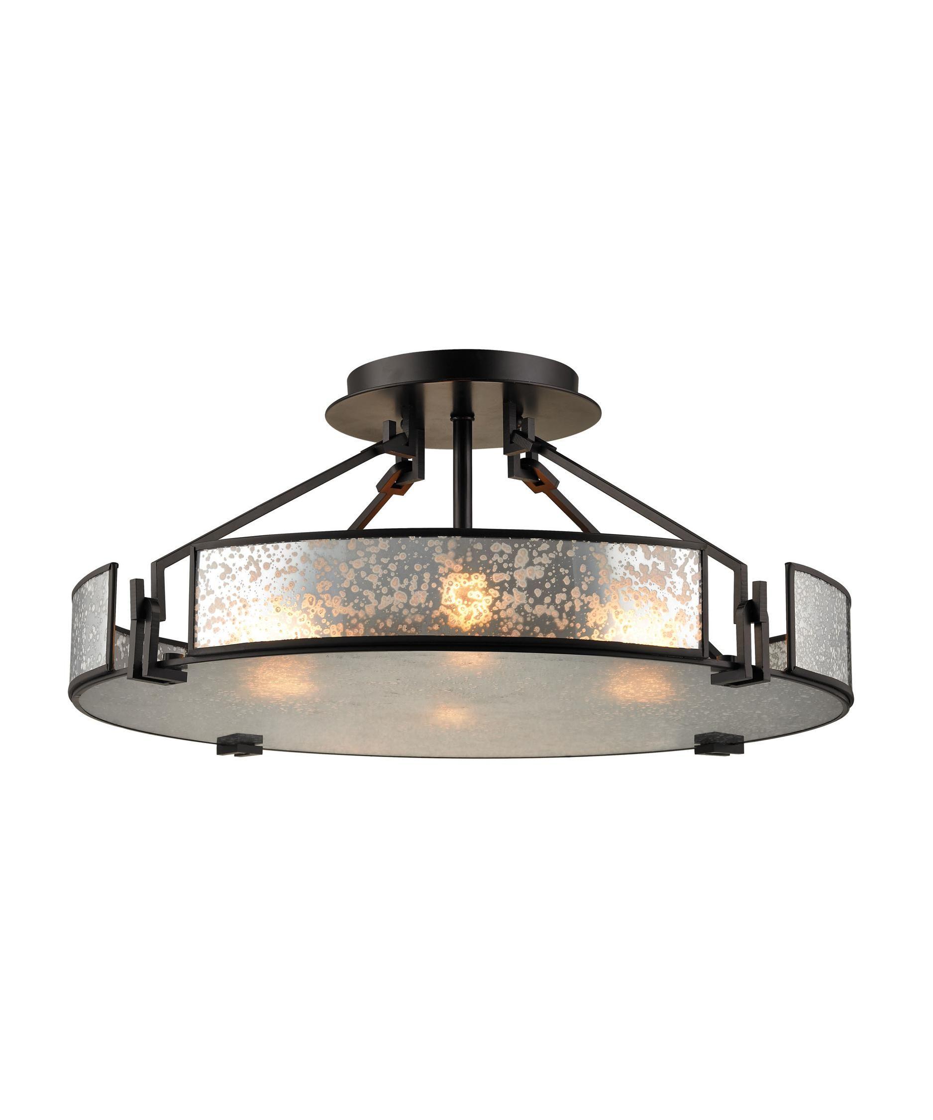 Lindhurst 21 Inch 4 Light Semi Flush Mount Capitol Lighting