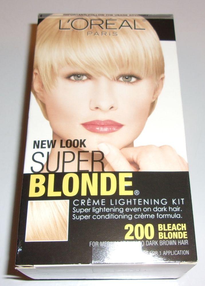 Loreal Super Bleach Blonde 200 Cream Lightening Hair Kit For Med