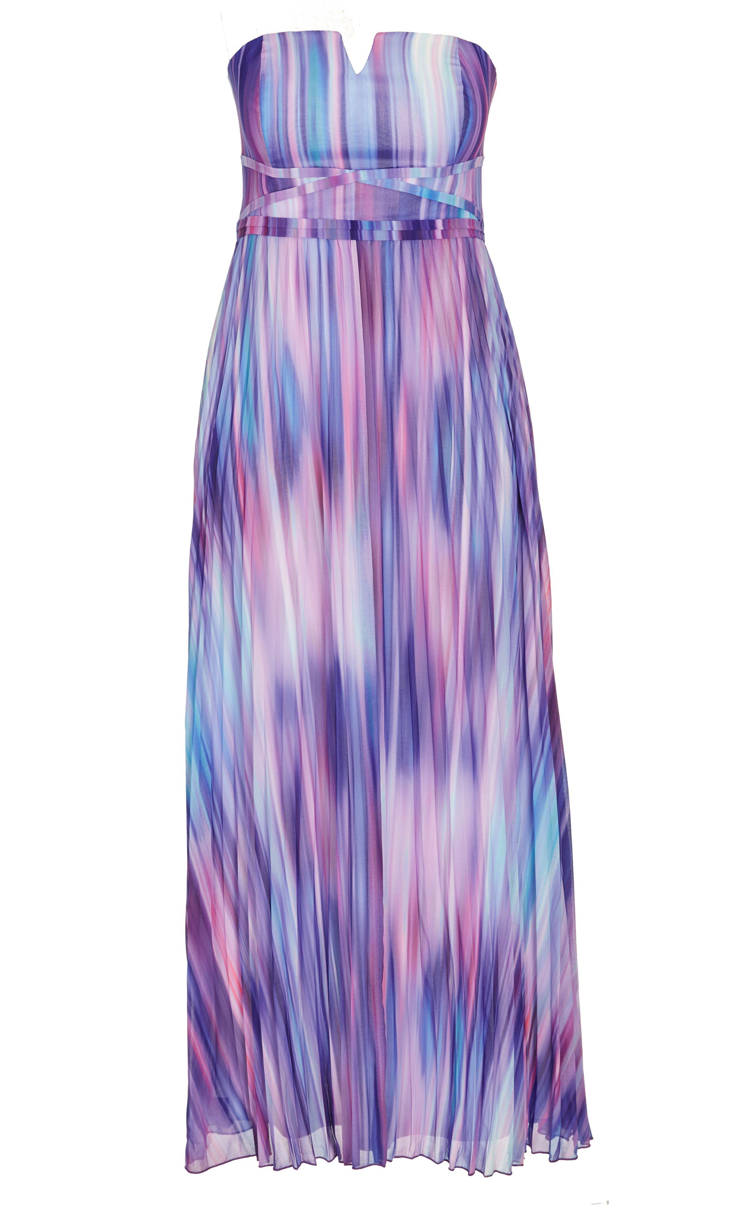 City Chic Multi Ombre Maxi Dress Womens Plus Size Fashion