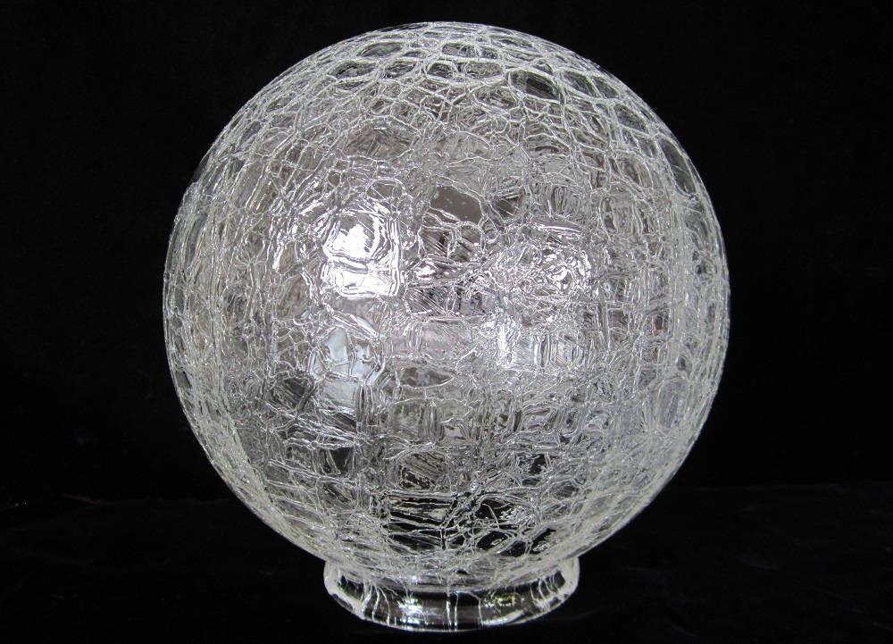 Crackle Glass Ball Shade 8 Quot Vintage Art Deco Frankart Era
