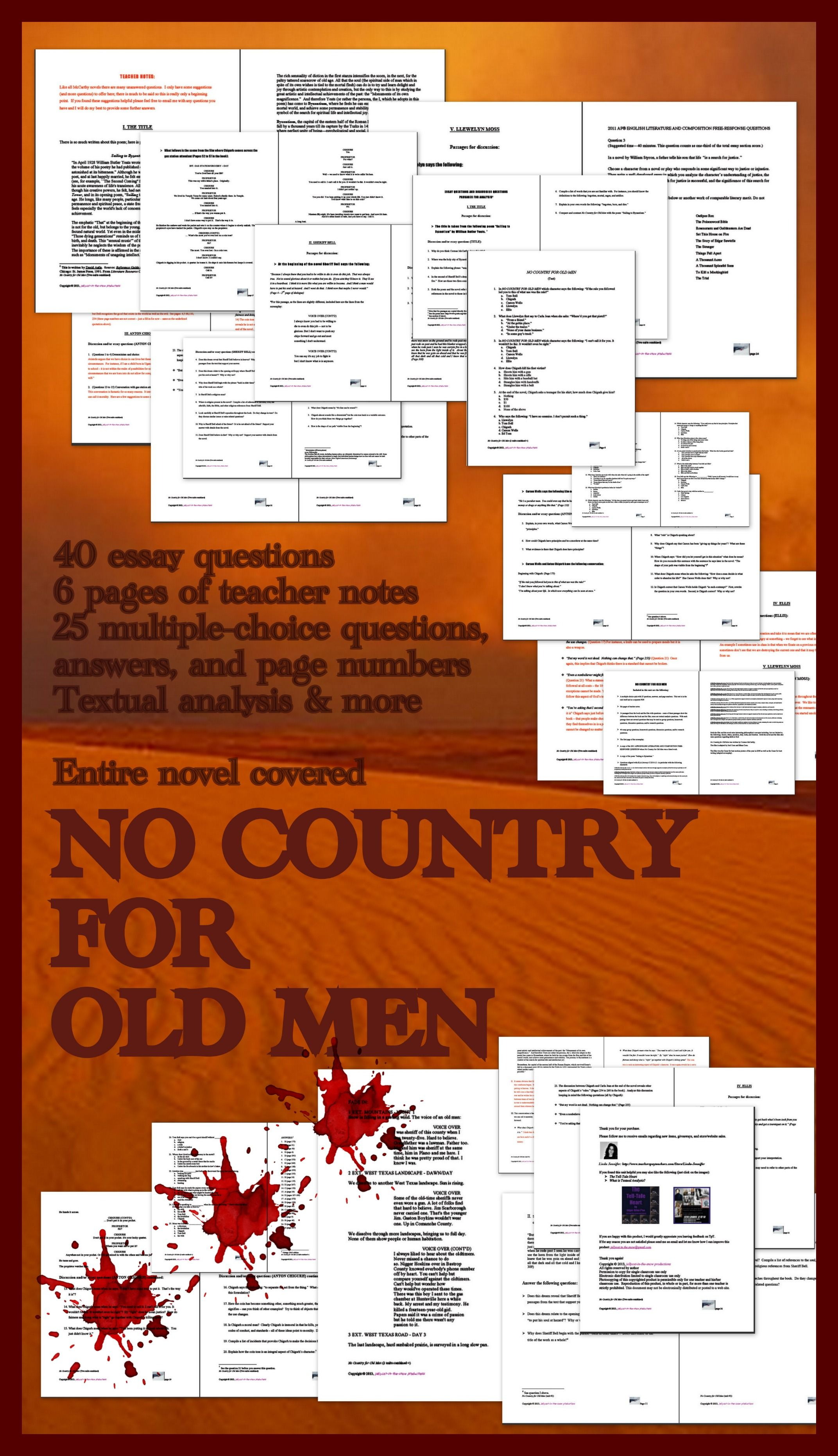 cormac mccarthy no country for old men essay