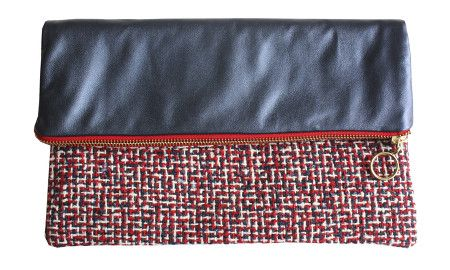 Handmade leather clutch. Perfect Christmas gift  Ethically made in London available to shop online at etrala.com