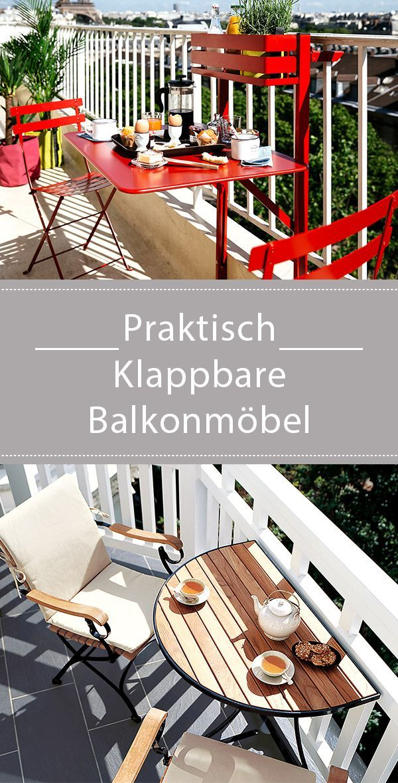 Klappmobel Fur Den Balkon Balkon Dekor Wintergarten Einrichten Fancy Hauser