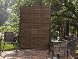 portable outdoor partitions for patios, pools, and backyards ... - Patio Privacy Screen Ideas