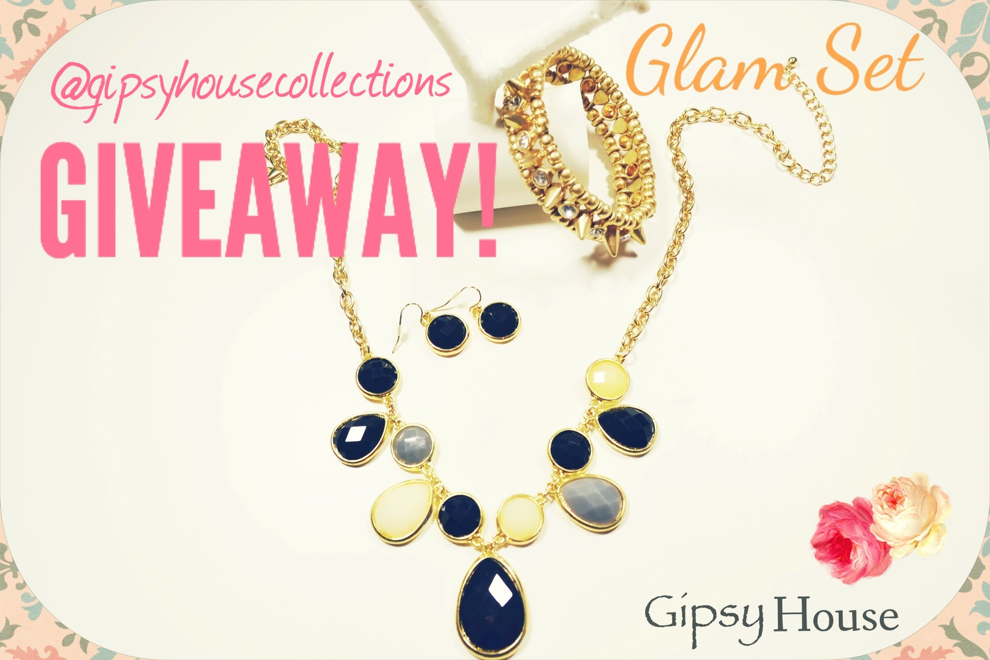 "Hello fans! We'll be having our first ""Instagram GIVEAWAY"" . If you have an Instagram account just follow the instructions and have a chance to win this beautiful Glam Set! Thank you for joining! GHC. (U.S Residents only giveaway ends 09/04/13, Winner will be announced 09/05/13.#fashion#style#jewlery"