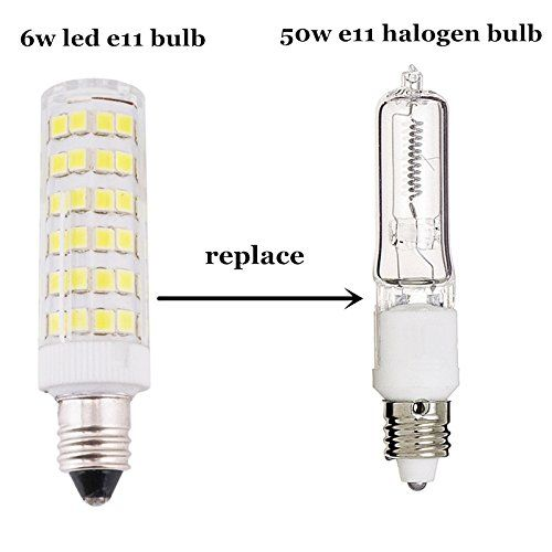 Bonlux 6w Dimmable E11 Led Light Bulb 45w Halogen Bulbs Equivalent Mini Candelabra Base Daylight 6000k T3 T4 Omni Directional For Ceiling Fan