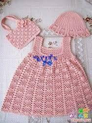 Αποτέλεσμα εικόνας για πλεκτα φορεματα για μωρα ΜΕ ΒΕΛΟΝΑΚΙ  e6ba93c1bb4