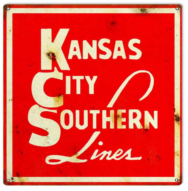 Kansas City Southern Lines Railroad Sign, Aluminum Metal Sign, USA ...