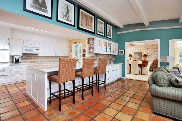 Teal Oak Cream Terracotta Kitchen