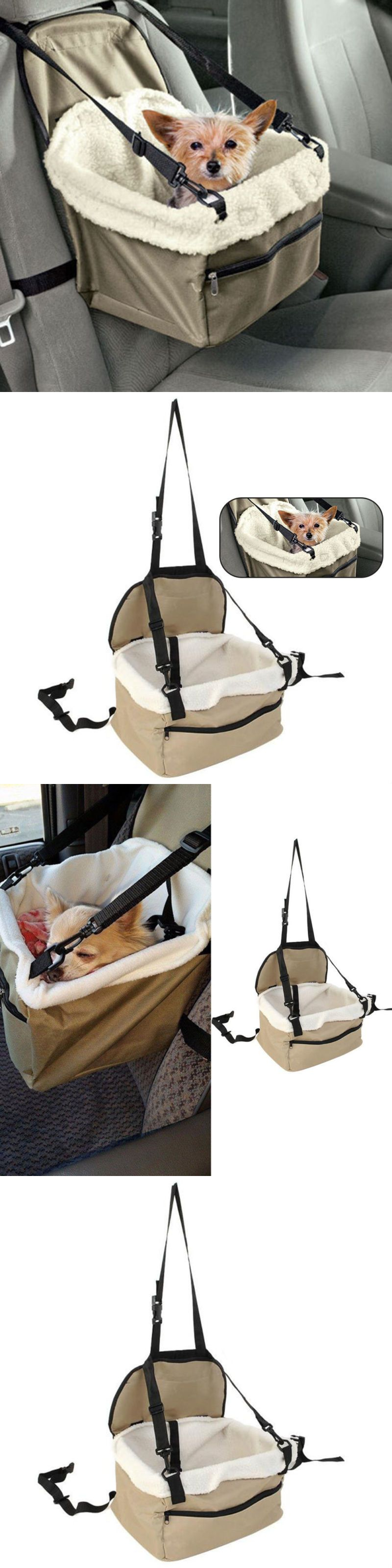 Car seats and barriers foldable pet dog puppy cat car seat