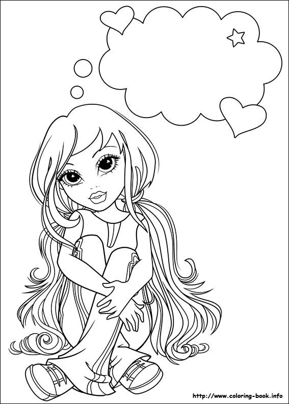 Moxie Girlz Coloring Picture Images To Color Coloring Pages