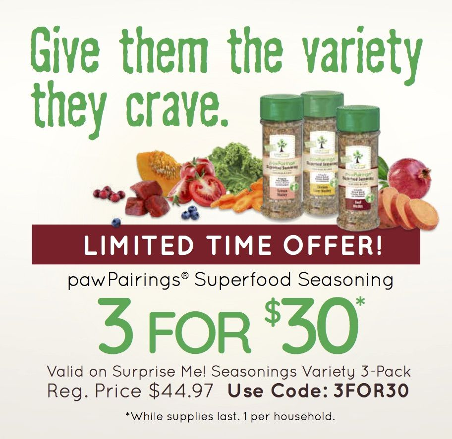 Give them the variety they crave! superfood pawtree