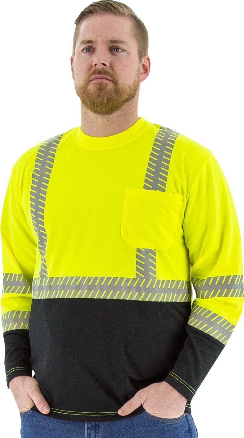 Safety Shirt Majestic 75-5257 Hi Vis CL2 Long Sleeve Shirt