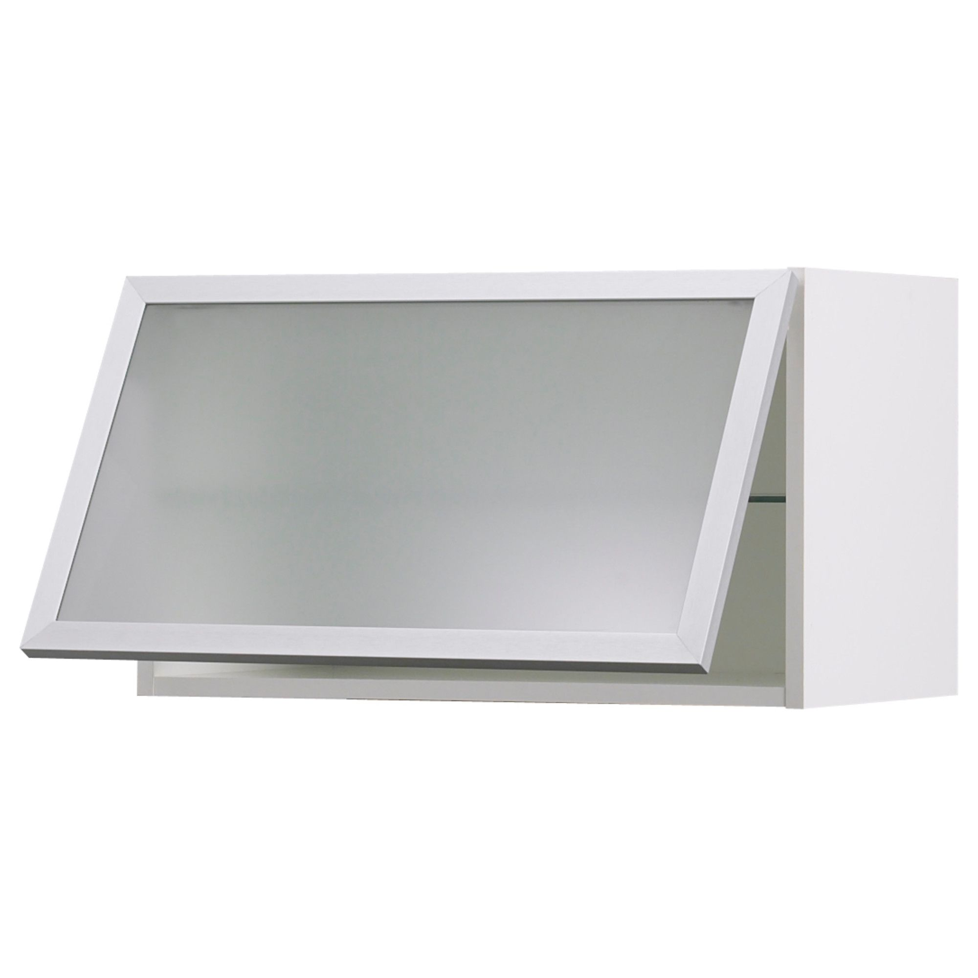 Ikea akurum horizontal wall cabinets with frosted glass for Glass kitchen wall units