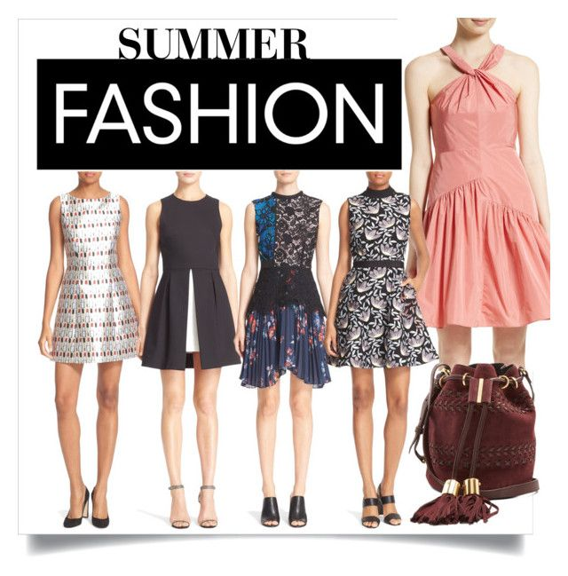 """Summer Fashion!!!"" by bonnielindsay ❤ liked on Polyvore featuring Alice + Olivia, Rebecca Taylor, self-portrait and See by Chloé"