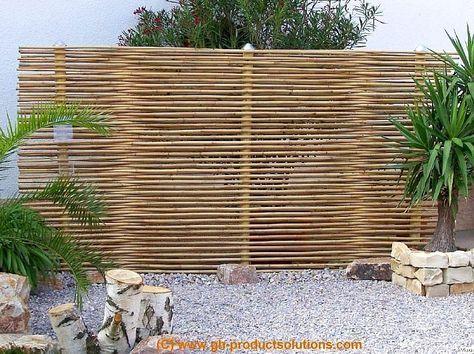 bambus sichtschutzwand. Black Bedroom Furniture Sets. Home Design Ideas