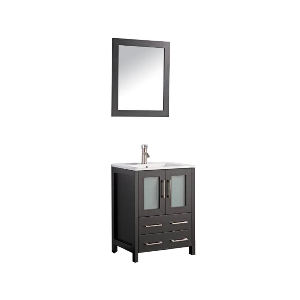 Water Creation Chestnut 30 In W X 21 5 In D Vanity In Grey Oak With Marble Vanity Top In In 2020 Single Sink Bathroom Vanity Bathroom Vanity Combo Marble Vanity Tops