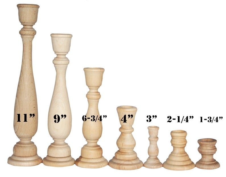 1 Candlestick Holders Unfinished Wood Diy Wedding Accents Home Decor Cake Tier Spacer Wedding Decor Candle Holders Wood Candlestick In 2020 Wood Candle Sticks Diy Candle Stick Holder Wood Candle Holders