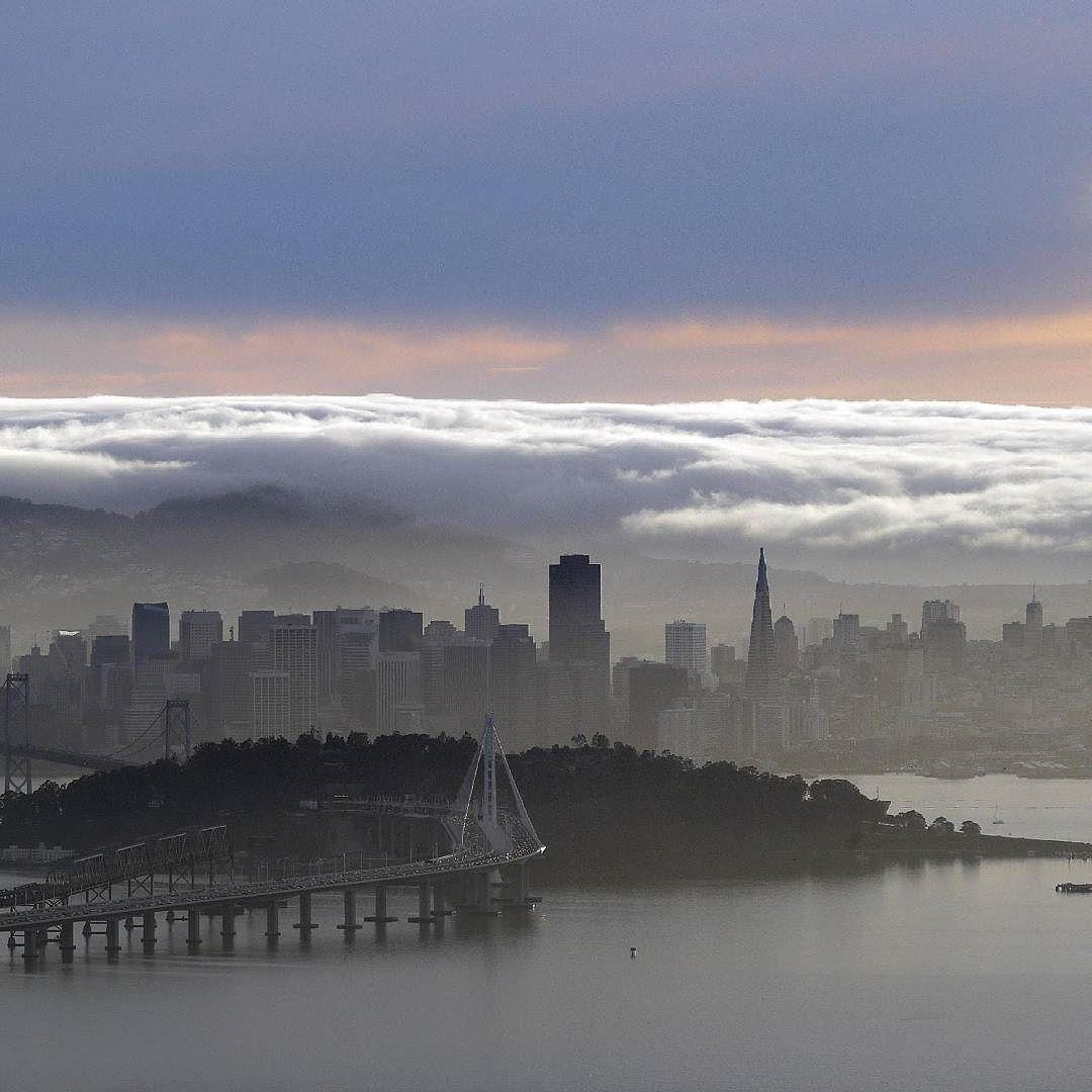San Francisco Fog Map Live%0A Nebbia su San Francisco  fog  Sanfrancisco by agenzia ansa