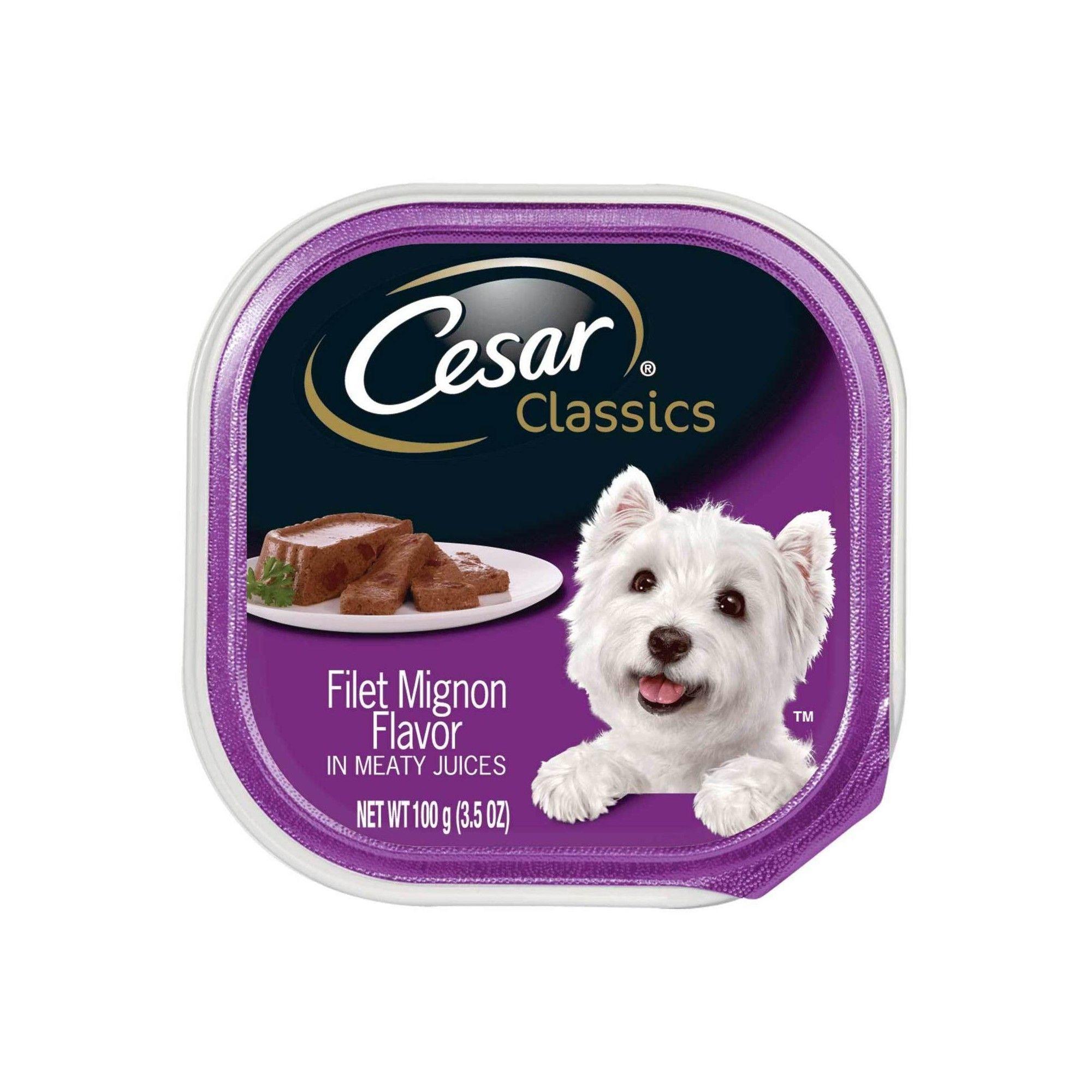 Cesar Canine Cuisine Filet Mignon Flavor Wet Dog Food 3 5oz Tray