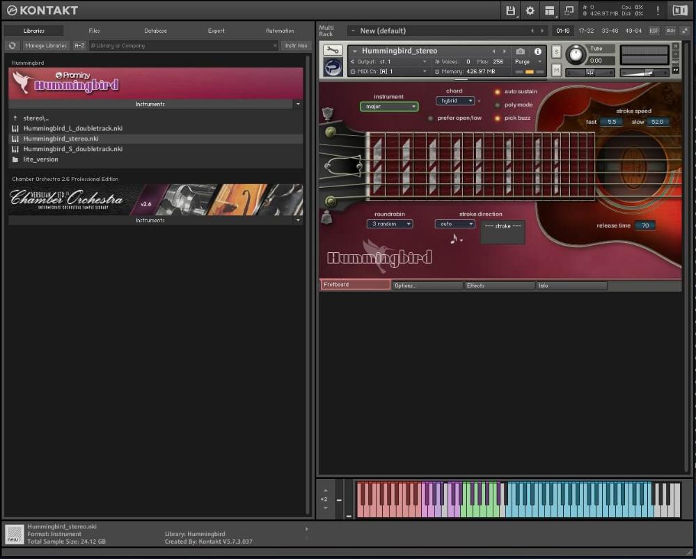 Prominy Hummingbird Demo V1 2 0 Full Kontakt Audioplugins Net Hummingbird Guitar Cord Types Of Guitar