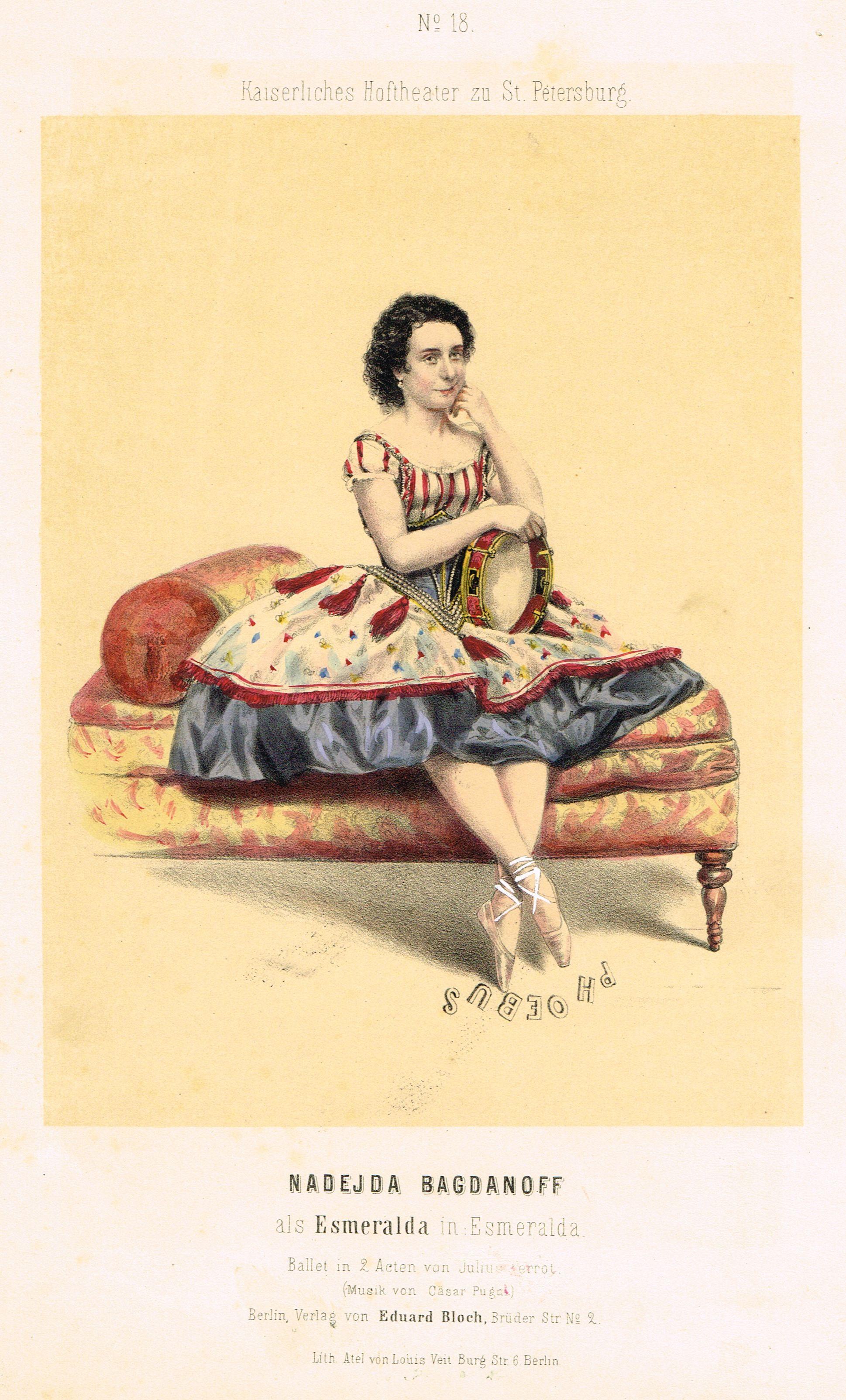 Nadejda Bagdanoff Ou Bogdonova 1836 1897 Dans Le Role D