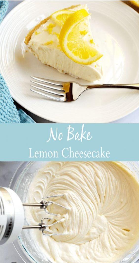 No Bake Lemon Cheesecake -