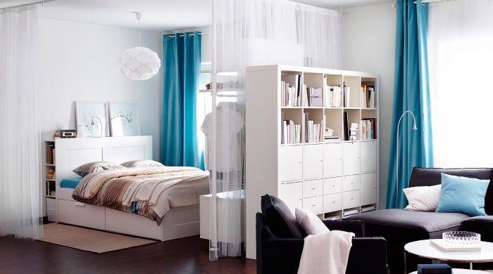 ikea sterreich ein raum mit schlaf und wohnbereich u a mit brimnes bettgestell mit. Black Bedroom Furniture Sets. Home Design Ideas