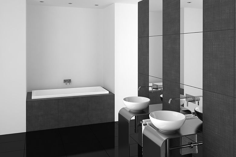 Badkamer voorbeelden zwart wit | Badkamer | Pinterest