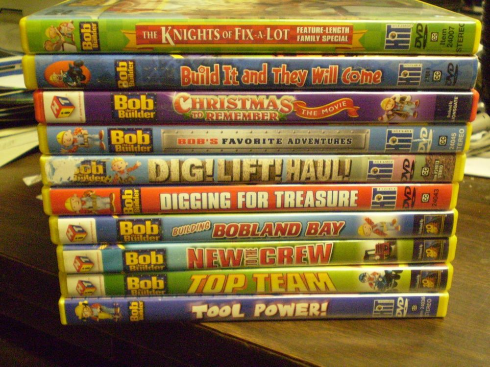 Details about (10) Bob the Builder Childrens DVD Lot