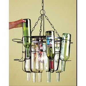 Tuscan style wine bottle chandelierl you need is the bottles kitchen dining room 16 wine bottle chandelier room decor product description combine your empty wine bottles with this chandelier frame to give your aloadofball Images