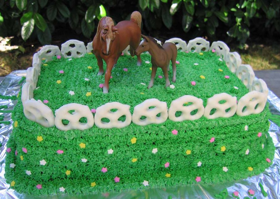 Easy Horse Cakes An Easy Horse Pasture Birthday Cake To Make