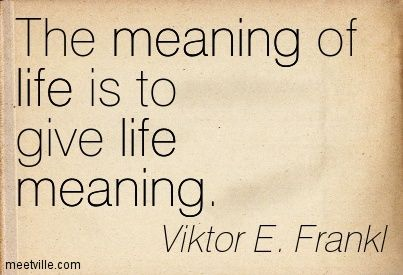 Meaning Of Life Quotes Entrancing The Meaning To Life Is To Give Life Meaning  Quotes   Pinterest