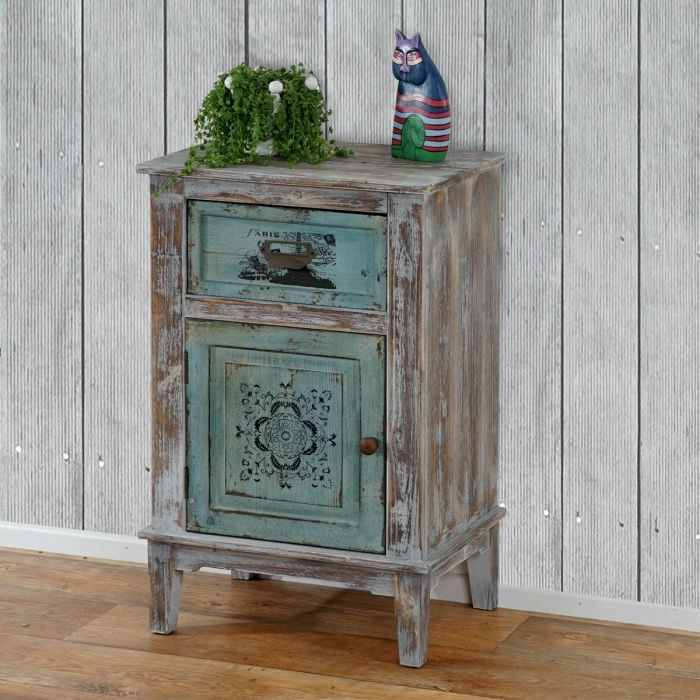 kommode murcia schrank shabby look vintage 75x48x36cm chalk paint. Black Bedroom Furniture Sets. Home Design Ideas